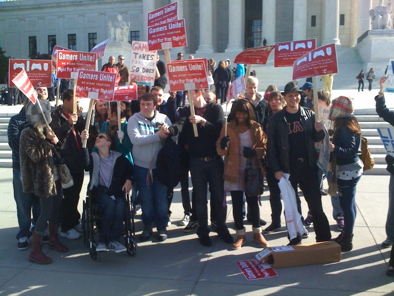 ECA rally at the U.S. Supreme Court